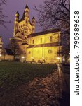 Small photo of Great St. Martin Church in Cologne. Cologne, North Rhine-Westphalia, Germany.