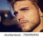 headshot of one handsome young... | Shutterstock . vector #790990993