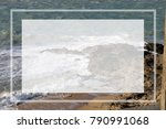 the beach in saint malo with a...   Shutterstock . vector #790991068