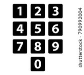 number icons in cube separate... | Shutterstock .eps vector #790992004