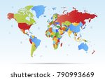 color world map vector | Shutterstock .eps vector #790993669
