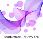 abstract lilac transparent... | Shutterstock .eps vector #790997578