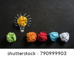 crumpled paper symbolizing... | Shutterstock . vector #790999903