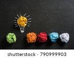 crumpled paper symbolizing... | Shutterstock . vector #790999903
