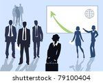 silhouettes of business people | Shutterstock .eps vector #79100404