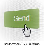 close up hand cursor and web... | Shutterstock .eps vector #791005006