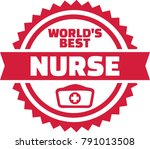 emblem for worlds best nurse | Shutterstock .eps vector #791013508
