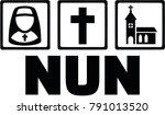 icon for nun with nun icon ... | Shutterstock .eps vector #791013520