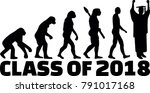 evolution of class of 2018 with ... | Shutterstock .eps vector #791017168