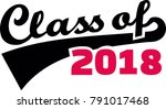 class of 2018 words with retro... | Shutterstock .eps vector #791017468