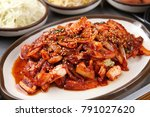 delicious spicy stir fried... | Shutterstock . vector #791027620
