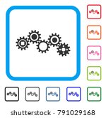 gear mechanism icon. flat grey... | Shutterstock .eps vector #791029168
