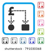 pound cashflow icon. flat grey...