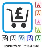 pound checkout icon. flat grey...