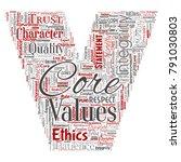 vector conceptual core values... | Shutterstock .eps vector #791030803