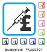 drug pound business icon. flat...   Shutterstock .eps vector #791031904