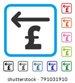 cashback pound icon. flat gray...