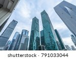 low angle view of skyscrapers... | Shutterstock . vector #791033044