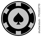 peaks suit black casino chip...   Shutterstock .eps vector #791033770