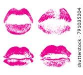 set of fashion beauty women...   Shutterstock . vector #791035204