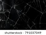 top view cracked broken mobile... | Shutterstock . vector #791037049