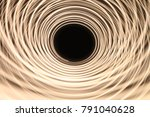neon circles at long exposure...   Shutterstock . vector #791040628