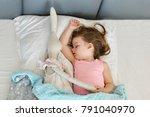 sleeping beauty. beautiful girl ... | Shutterstock . vector #791040970