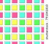 flat line square pattern vector   Shutterstock .eps vector #791041810