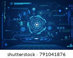 abstract technology ui... | Shutterstock .eps vector #791041876