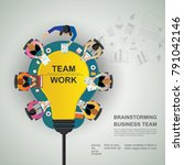 business meeting and... | Shutterstock .eps vector #791042146