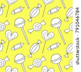 doodle pattern candy vector    Shutterstock .eps vector #791046784