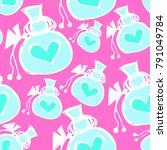 pattern sack doodle vector    Shutterstock .eps vector #791049784