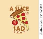 pizza slice illustration   Shutterstock .eps vector #791060398