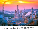 petroleum and chemical refinery ...   Shutterstock . vector #791062690