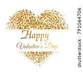 valentine's greeting card with... | Shutterstock .eps vector #791064706