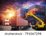 logistics and transportation of ...   Shutterstock . vector #791067298
