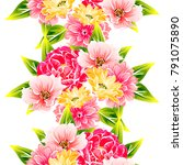 abstract elegance seamless... | Shutterstock . vector #791075890