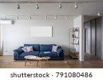 contemporary interior with... | Shutterstock . vector #791080486