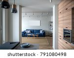 interior in a modern style with ... | Shutterstock . vector #791080498