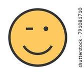 winking  wink  man | Shutterstock .eps vector #791081710