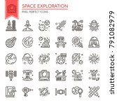 space exploration  thin line...   Shutterstock .eps vector #791082979