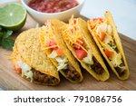 hard shell tacos | Shutterstock . vector #791086756