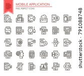 mobile application. thin line...