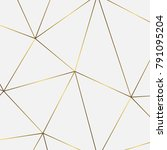 golden geometric abstract... | Shutterstock .eps vector #791095204