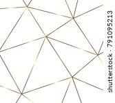 golden geometric abstract... | Shutterstock .eps vector #791095213