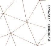 golden geometric abstract... | Shutterstock .eps vector #791095219