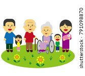care for the aged | Shutterstock .eps vector #791098870