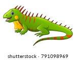 cute lizard cartoon   Shutterstock .eps vector #791098969