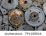 handicraft metal artwork from... | Shutterstock . vector #791100016