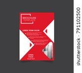 flyer design or depliant cover...   Shutterstock .eps vector #791102500